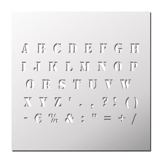 Pochoir Alphabet 2cm