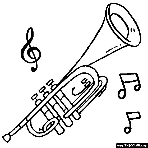 coloring pages of trumpets - photo#1