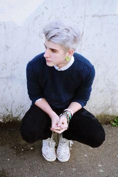 gray hair men pastel - Google Search