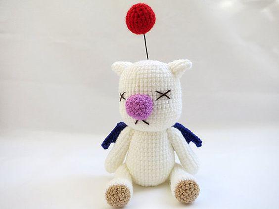 Amigurumi Vivi Free Patterns : Crochet pattern pdf amigurumi final fantasy x moogle doll moogle