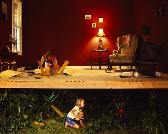 A narrative studio photograph of two curious girls  Jennifer Zwick (Seattle, WA)