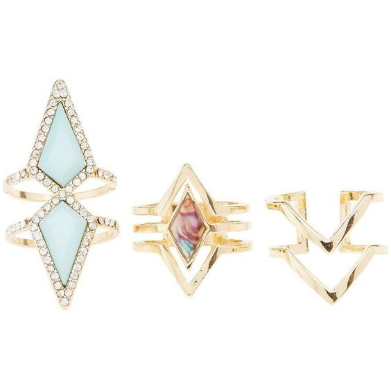 Charlotte Russe Caged Chevron Rings (€5,31) ❤ liked on Polyvore featuring jewelry, rings, gold, vintage rings, cage jewelry, cage ring, vintage jewelry and vintage jewellery