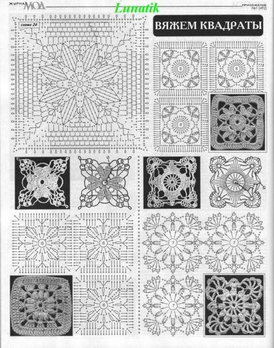 Magnífico Los Patrones De Crochet Cuadrado De La Abuelita Ornamento ...
