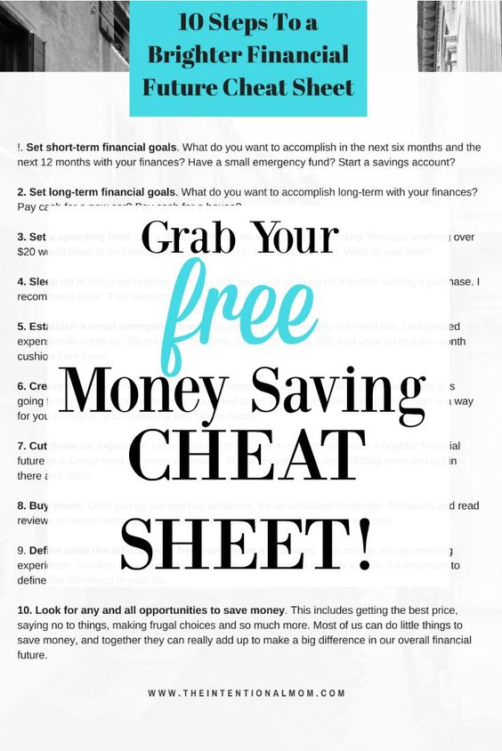 10 Easy Steps To a Brighter Financial Future Cheat Sheet