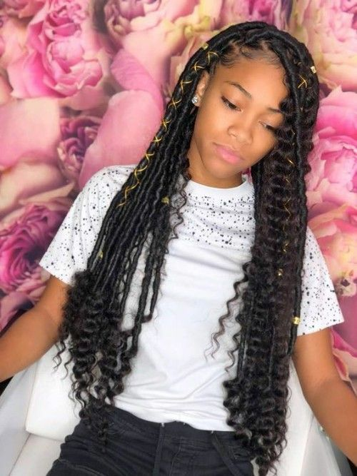 Modern Hairstyles For African American Birthday Ladies New Natural Hairstyles Girls Hairstyles Braids Faux Locs Hairstyles African Braids Hairstyles