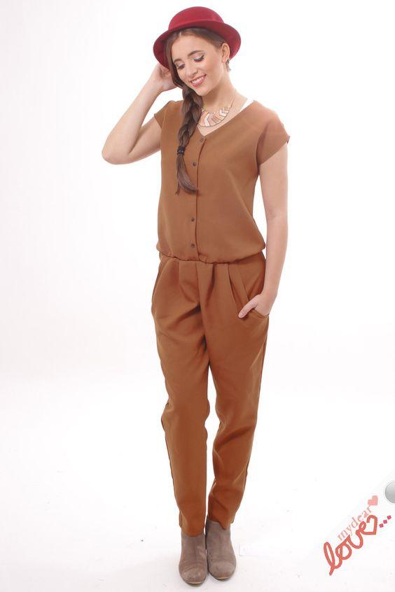 Entdecke lässige und festliche Kleider: mydearlove Overall Annamarie- Rostbraun made by mydearlove - shop via DaWanda.com