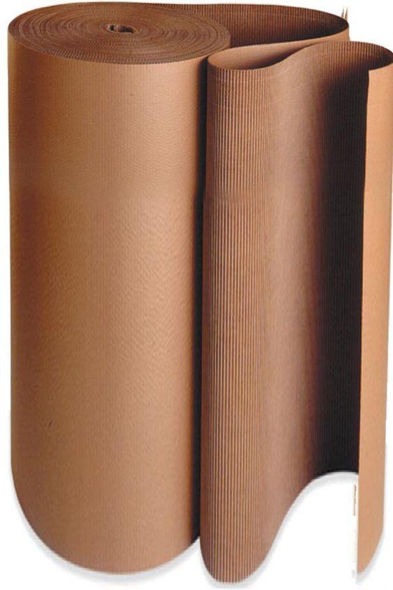 "Single Faced 48"" Corrugated Cardboard - Sold in 5 yd rolls."