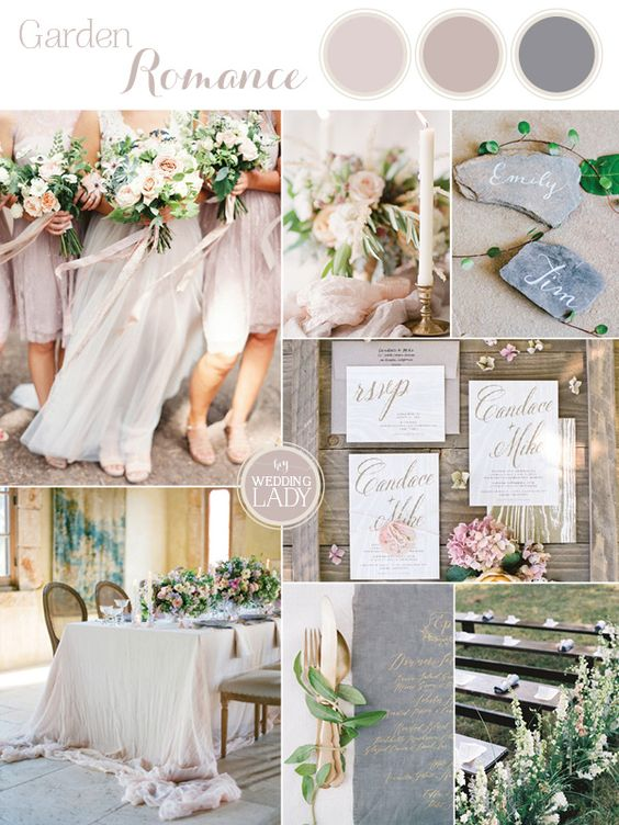 The Sweetest Spring Wedding Palette Ever in Dusty Purple, Mauve, and Slate Gray   http://heyweddinglady.com/sweetest-spring-wedding-palette-ever/