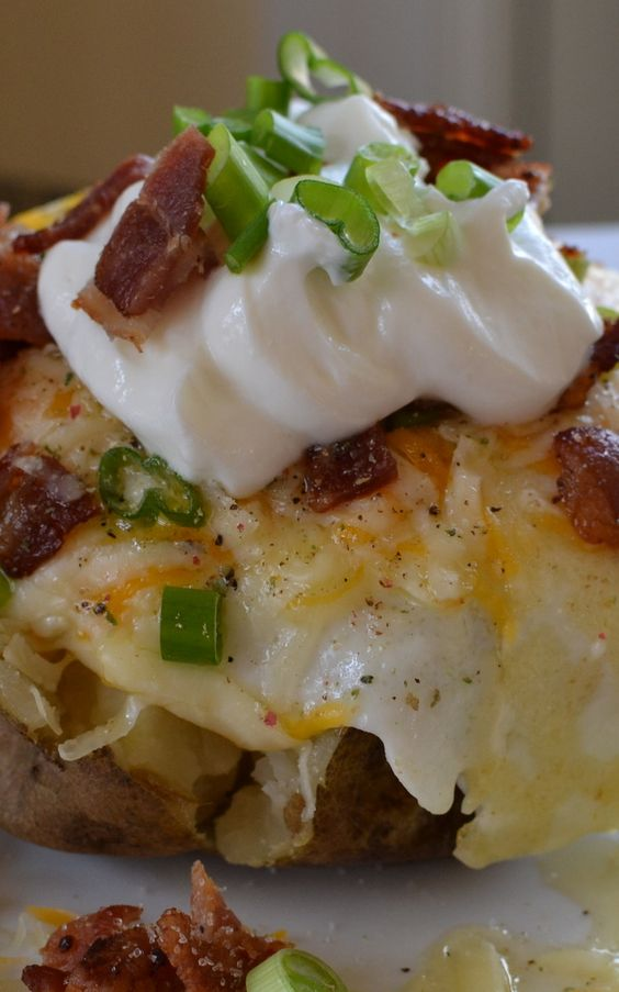 Breakfast Baked Potatoes | Recipe | Breakfast, Potatoes and Baked ...