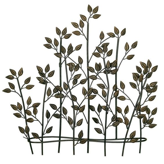 Have to have it. Foliage Metal Wall Art - 36.75W x 35.5H in. - $111 @hayneedle