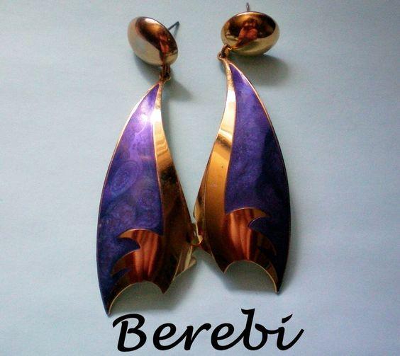 HUGE Edgar Berebi Dangle Pierced Earrings