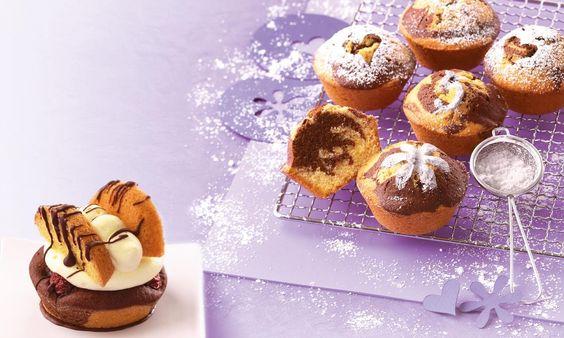 Donauwellen-Muffins Rezept | Dr.Oetker