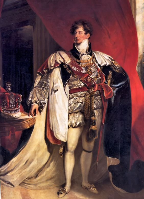 George IV, King of the United Kingdom of Great Britain and of Hanover; by Sir Thomas Lawrence, c. 1822. He was the eldest son of King George III of Great Britain.
