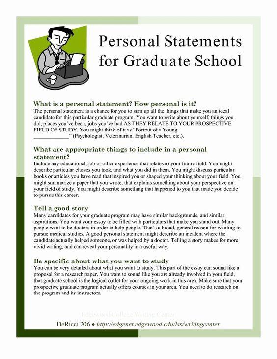 Personal Goal Statement Luxury 25 Best Sample Image On Pinterest School Essay Graduate Grad What I A