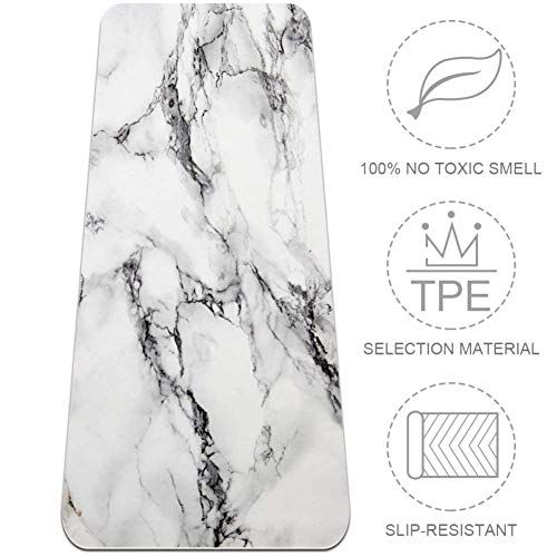 Tikismile Marble Pattern Extra Large Yoga Mat Eco Friendly High Density Anti Tear 72 X 24 Thickness 1 4 Inch No In 2020 Large Yoga Mat Mat Exercises Floor Workouts