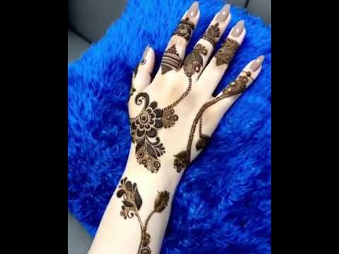 نقش حناء عيد الفطر 2019 Youtube Hand Henna Henna Mhendi Design