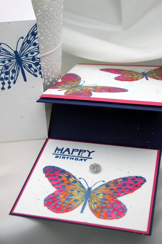 Social Butterfly - interior & envelope (in background)