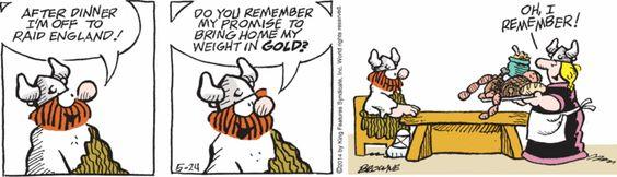 Hagar the Horrible by Chris Browne - May 24, 2014 | Comics | Comics Kingdom - Comic Strips, Editorial Cartoons, Sunday Funnies, Jokes