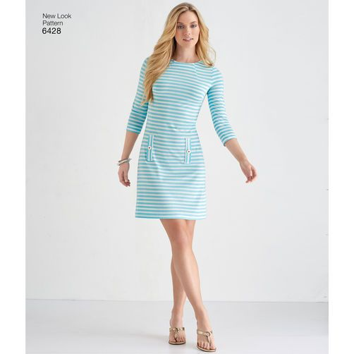New Look Pattern 6428 Misses' Knit Dresses