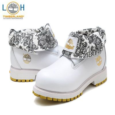 Timberland Roll Top Men Boots White Elegant Just For