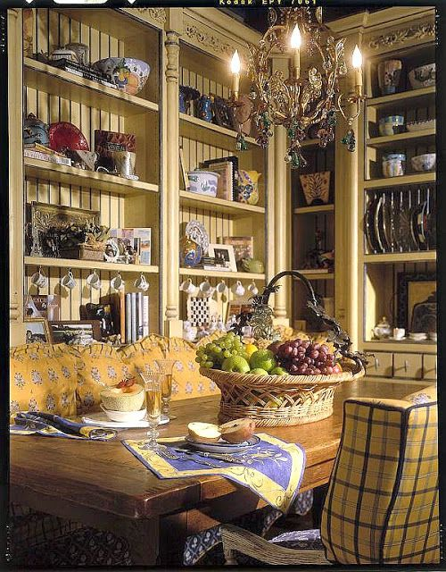 Every Kitchen Should Have A Sofa And A French Chandelier