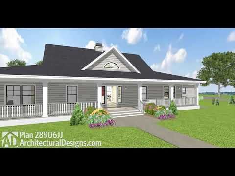 Plan 28906jj Flexible Country House Plan With Dual Porches In 2020 House Plans Farmhouse Country House Plan Craftsman House Plans