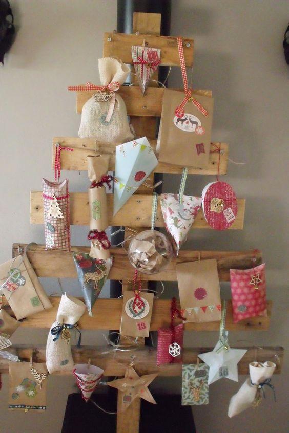 Tuto calendrier de l avent scrapbooking and diy and crafts - Calendrier de l avent en bois a decorer ...