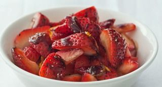Strawberries with Balsamic Syrup: Serve the sweet-tart strawberries in dessert dishes or spoon over pound cake or over ice cream.