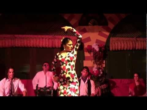 Flamenco Dance Show during dinner at El Palacio Andaluz, Seville, Spain.