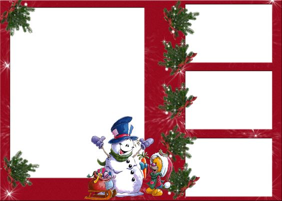 Christmas_Snowman_ Transparent _Photo Frame.png (2480×1772)