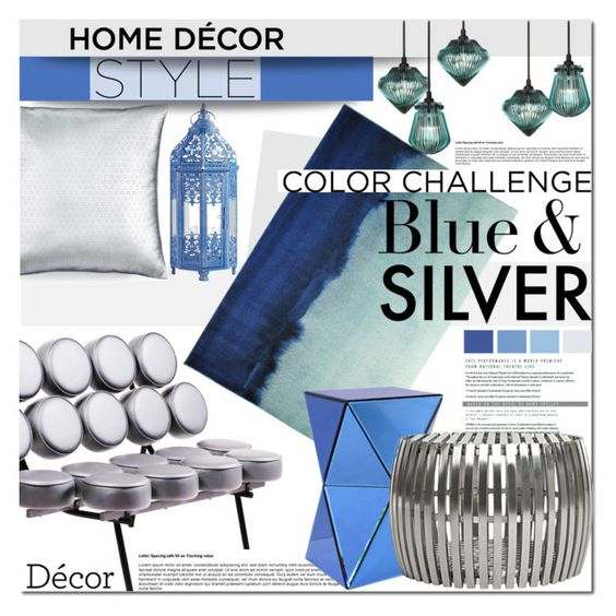 Color challenge blue and silver by barbarela11 liked on for Tom hoch interior designs inc