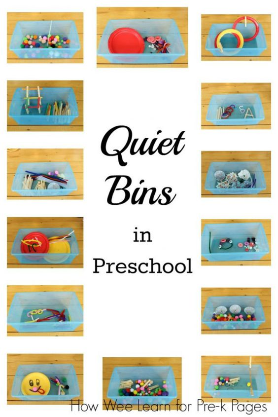 Getting the Most from Quiet Bins in your preschool classroom. Perfect for non-nappers during nap time!- Pre-K Pages