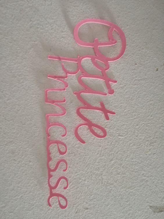"""Découpe """"PETITE PRINCESSE"""" ROSE pour scrapbooking carterie.... : Embellissements…"""
