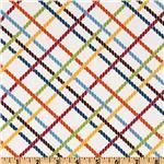 Stitch Organic Diagonal Criss Cross Garden White