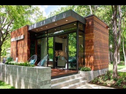 Beautiful 480 Sq Ft Modern Cabin On Lake Austin In Texas Great Small House Design Ideas Youtu Modern Tiny House House Designs Exterior Small Modern Cabin