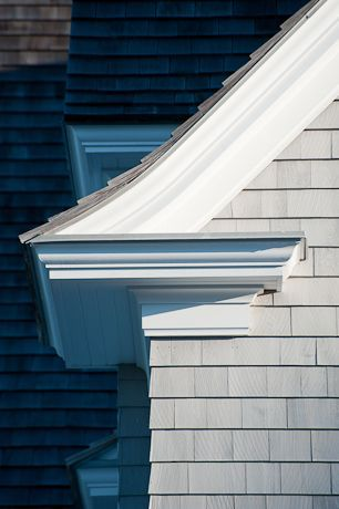 Moldings Shingle Siding And White Trim On Pinterest