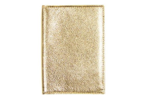 Leather Passport Wallet, Gold