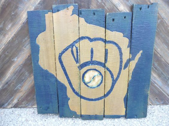 Milwaukee Brewers Pallet Sign on Etsy, $50.00