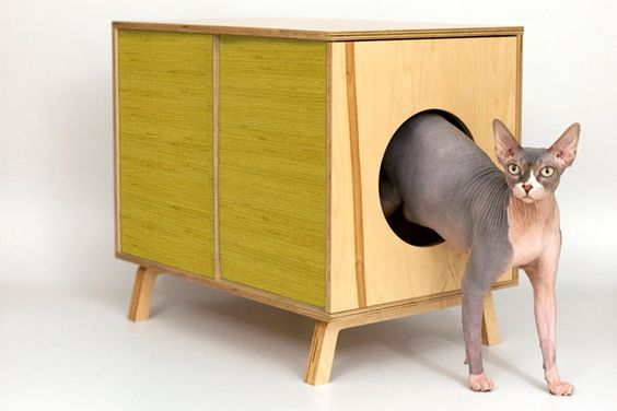 PEEKABOO side table - mid-century design for you and your pet - Small. $439.00, via Etsy.