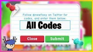 Roblox Adopt Me All Codes 2019 Roblox Roblox Codes All Codes