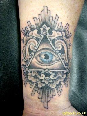 Realista Tatto, Tatuajes Naduchy, Azul Negro, De Color Negro, Inspiración Imaginería, Deas Oculares, Arte Del Ojo, Muñeca Tatuaje, Todo Lo Ve El Ojo Del