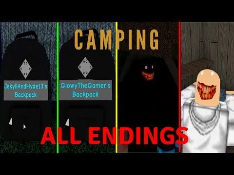 Roblox Camping All Endings 2019 Youtube Roblox Com Games Songs