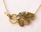 Olive Leaf Necklace in Antique Gold - Lord of the Rings - The Hobbit. i recommend looking at this Etsy cause its really cool