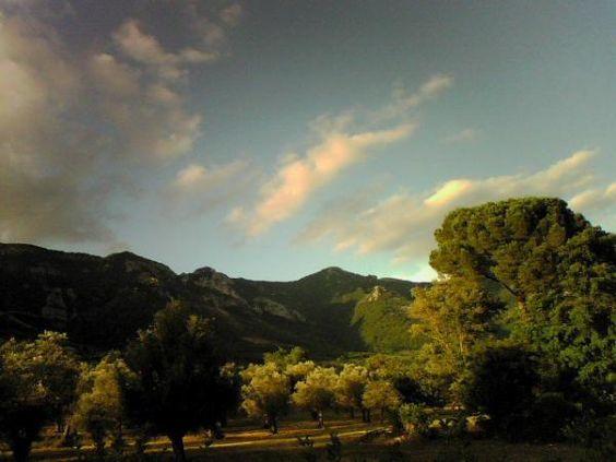 Paesaggio al tramonto -Katia: