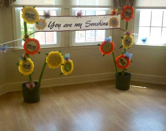 Sunflowers and butterflies. Our resident thank-you contribution to nursing home week.