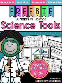 Have students learn the basics of science tools with this freebie! Includes:- Table Tent Prediction Cards- Picture Card Sort (guided practice)- KWL Chart- Can-Have-Are Chart-ABC Order: Key Terms- Vocabulary Graphic Organizers- Science Safety Tools Writing Activity- Assessment