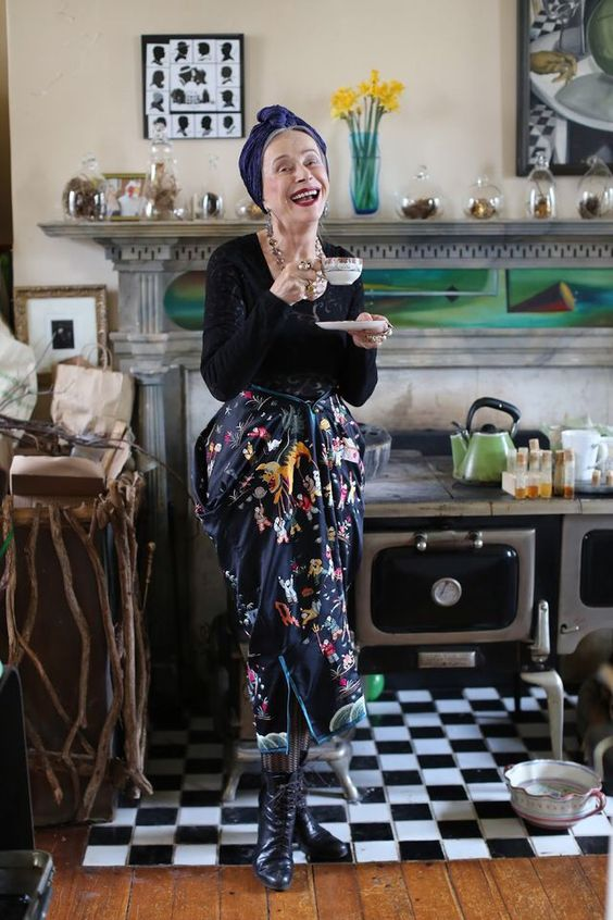 Headscarf and Floral Pants