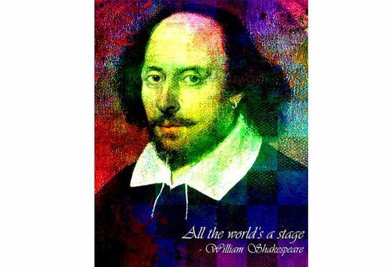 Shakespeare-Art Shakespeare Print von PoolPartyPopArt auf Etsy