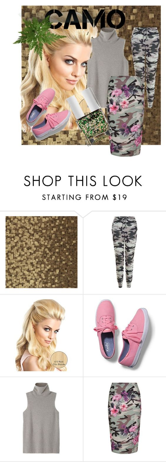 """""""camo style"""" by gilliewill ❤ liked on Polyvore featuring Zoffany, New Look, Keds, The Row, Nails Inc. and camostyle"""