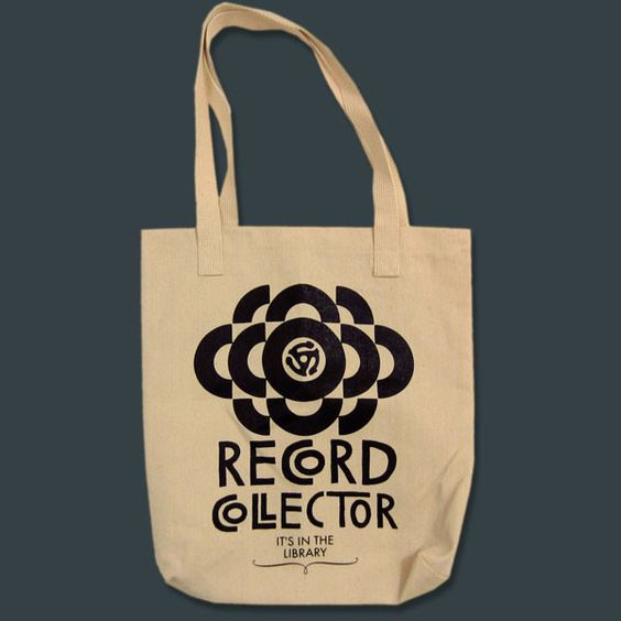 'Record Collector' Tote Bag SWEET !!: